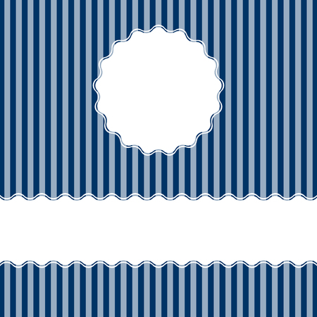 banderole: Blue lined cover background with free space for text. Illustration