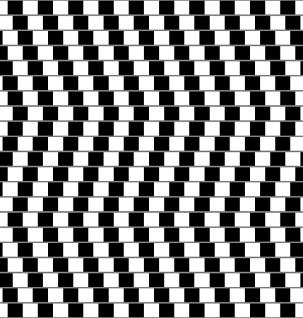 seamless black and white optical illusion with unreal effect