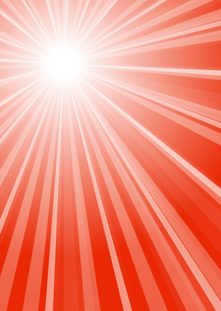 red background with white stripes and center