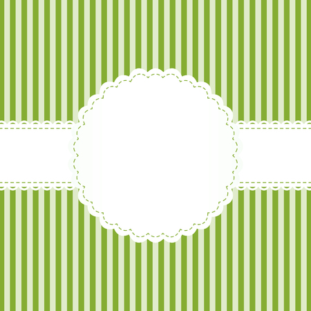 banderole: White bandoleer on green background with lined pattern. Illustration
