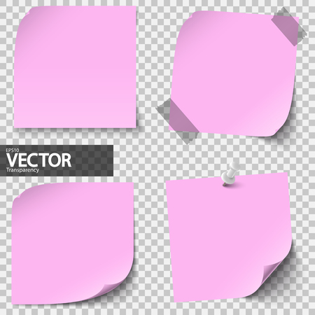 collection of colored sticky notes with transparency showing shadow