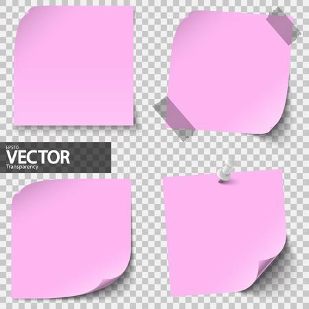 Verzameling gekleurde notitiebladen met transparantie die schaduw toont Stockfoto - 75071344