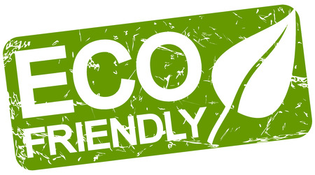 quality regional: grunge stamp with background colored green and text ECO FRIENDLY