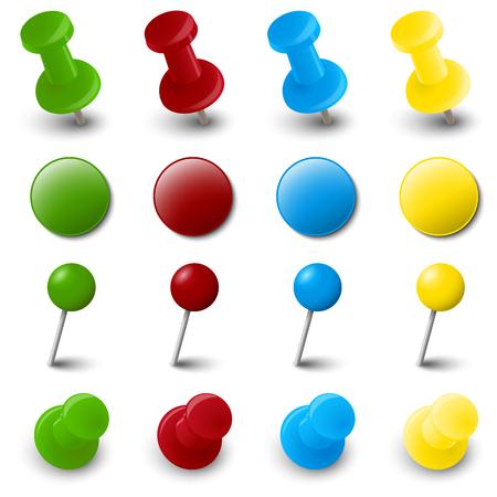 blatt: Sammlung von verschiedenen Stift Nadel Bürobedarf in verschiedenen Farben