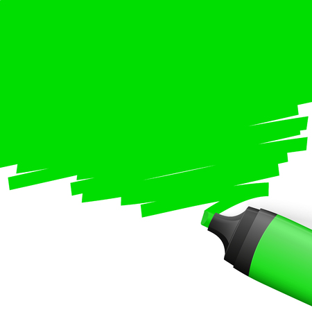 characterize: green colored highlighter with marking on top side Illustration