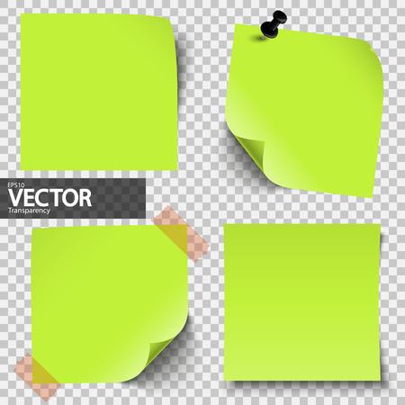 Colección de notas adhesivas de colores con transparencia que muestra la sombra Foto de archivo - 76355074