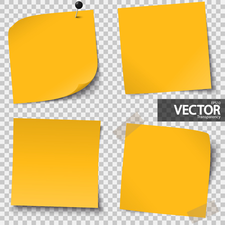 inform information: collection of colored sticky notes with transparency showing shadow