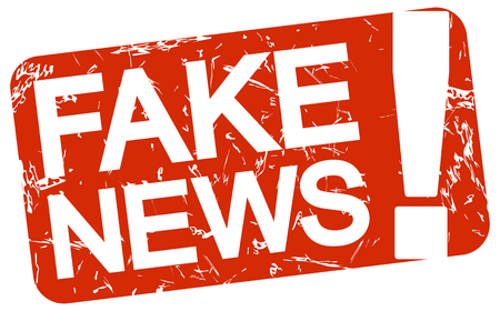 undemocratic: grunge stamp with background colored red and text Fake News