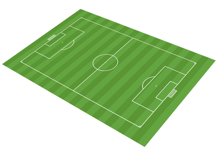 three dimensional vector illustration of an classical soccer field Illustration