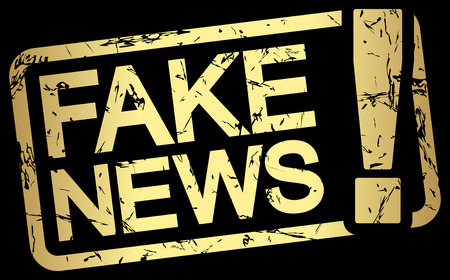 undemocratic: grunge stamp with frame colored gold and text Fake News Illustration