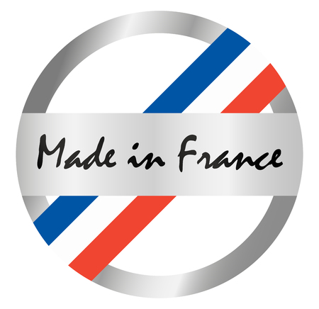 quality guarantee: round seal of quality with text made in France