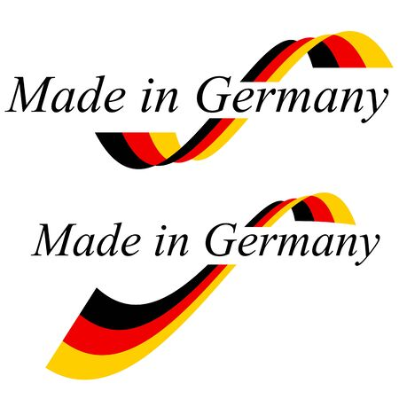 Seal of quality with text made in Germany and colors of german flag