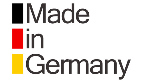 made in germany: Seal of quality with text made in Germany and colors of german flag