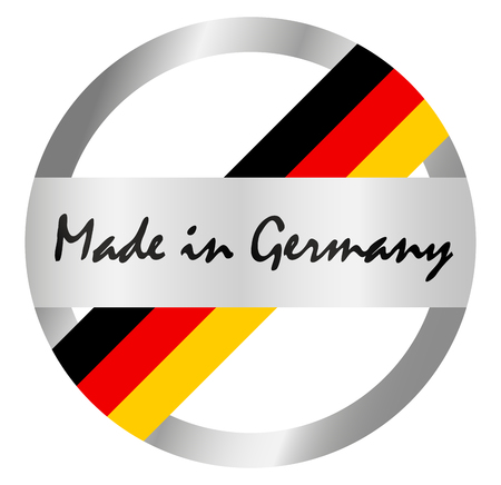 round seal of quality with text made in Germany Illustration