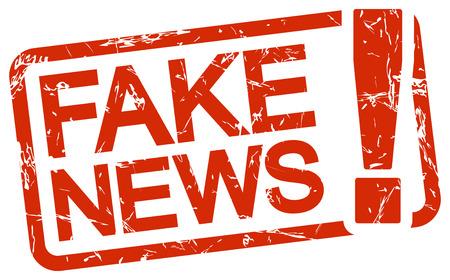 Fake news alert. 矢量图像