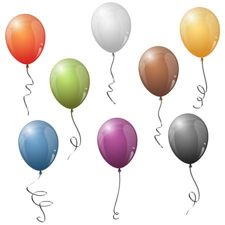 Colorful balloon set.