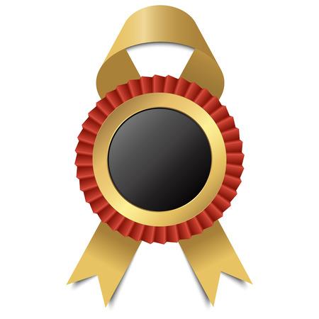 Round black ribbon template.