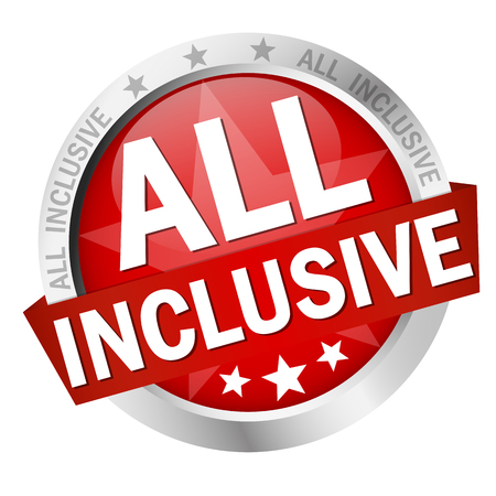 colored button with banner and text All inclusive