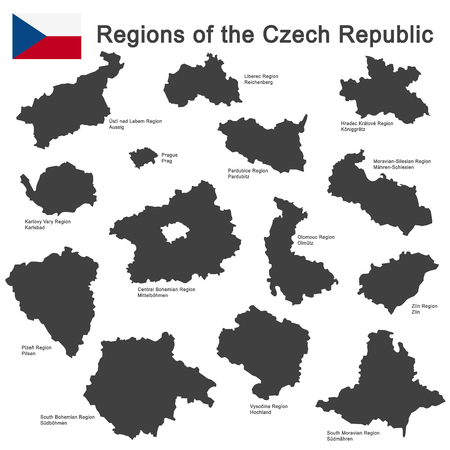 european country Czech Republic and detailed regions