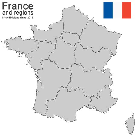 silhouettes of country France and new regions since 2016