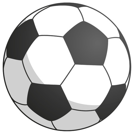 simply black-white football with shadow vector illustration