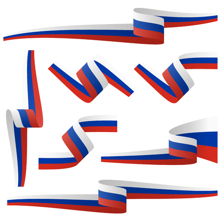 collection - russian country flag banners