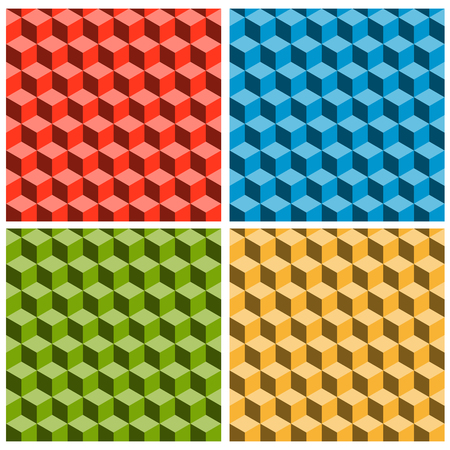 illustration of seamless background with colored optical illusion Ilustração