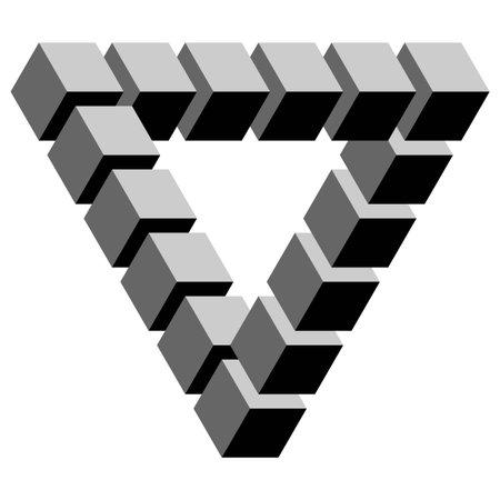 illustration en noir et blanc d'une illusion d'optique phénoménale