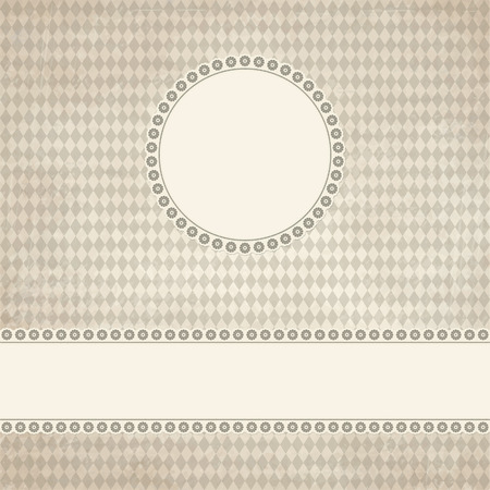 banner and empty patch on dirty brown colored Oktoberfest grunge background Illustration