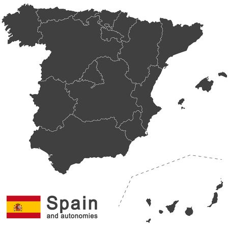 España país europeo y autonomías en detalle
