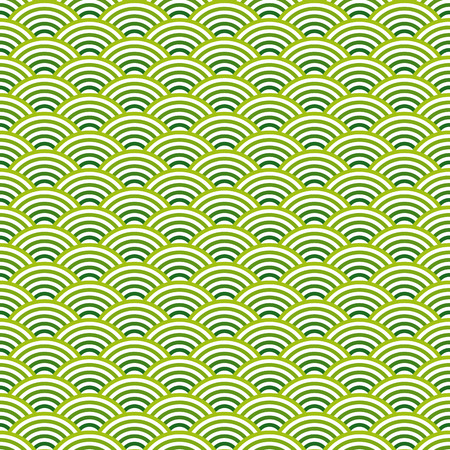 vector of seamless abstract waves background colored green