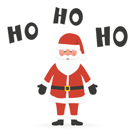 Santa Claus concept with Santa saying Ho Ho Ho, isolated on white background for christmas time greetings Vector Illustratie