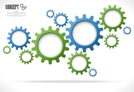 colored gear wheels showing business cooperation concept graphic