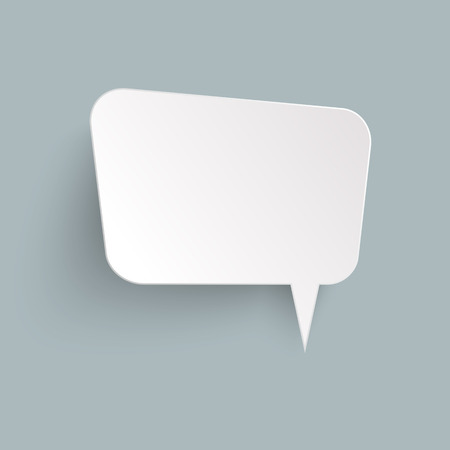 illustration of speech bubble with shadow looking like sticker  イラスト・ベクター素材
