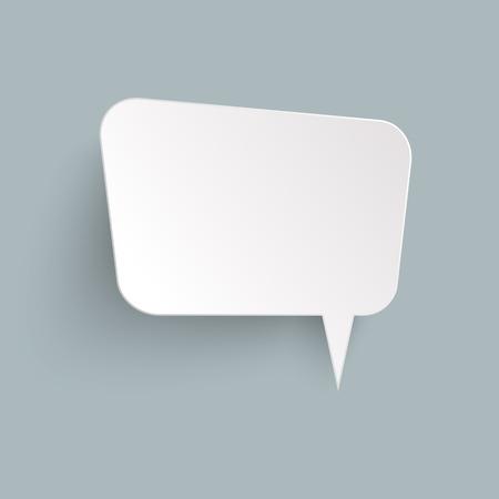 illustration of speech bubble with shadow looking like sticker Иллюстрация