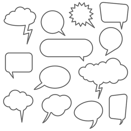 collection of different speech bubbles and thought bubbles with space for text Stock Vector - 124896583