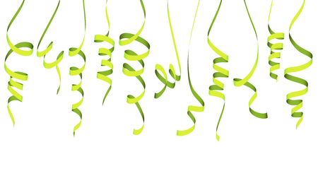 vector illustration of different colored streamers isolated on white background for party or carnival usage Illustration