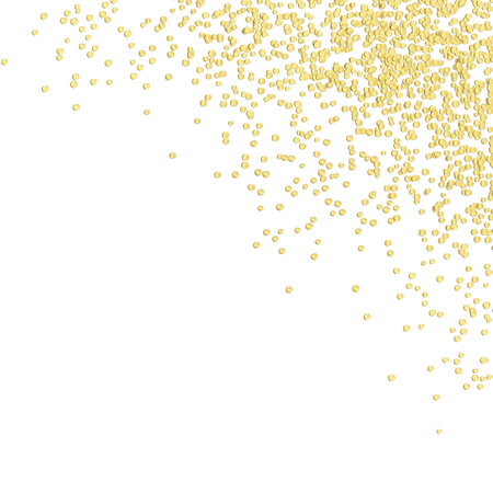 background with golden colored confetti in upper right corner for party time