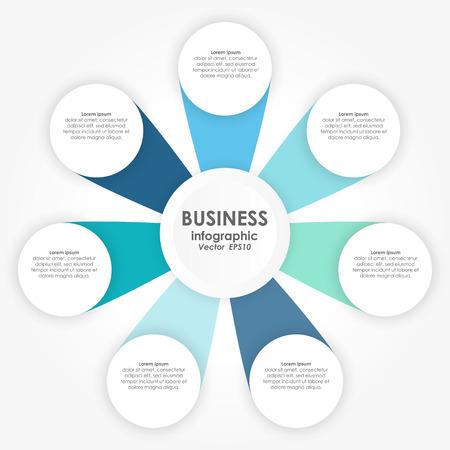 Vektorillustration der Infografik für Teamarbeitsgeschäftskonzepte