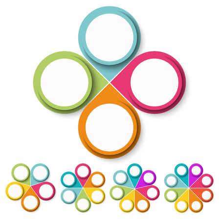 Vektorillustration der Infografik für Teamarbeitsgeschäftskonzepte Vektorgrafik