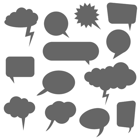 collection of different speech bubbles and thought bubbles with space for text Standard-Bild - 121237143