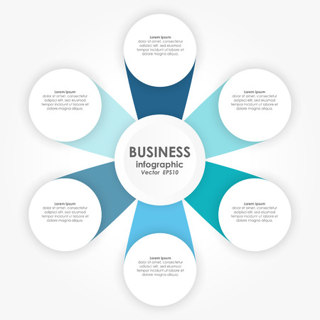 vector illustration of info graphic for team work business concepts Vektorgrafik