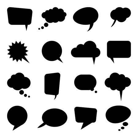 collection of different speech bubbles and thought bubbles with space for text Illustration