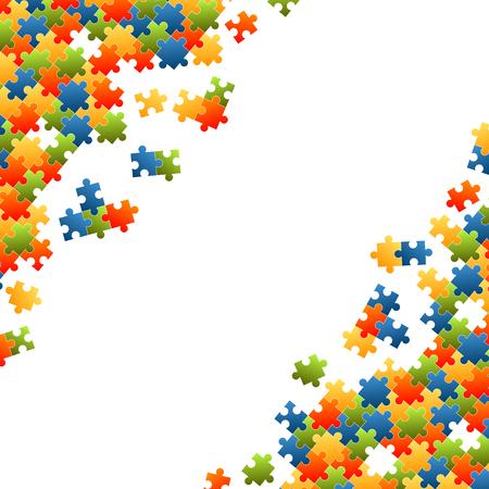 Puzzleteile bunter Hintergrund
