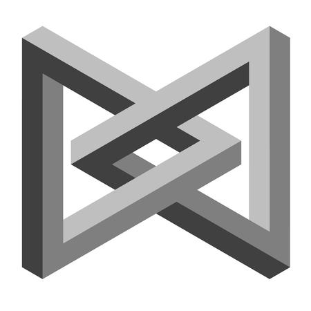 graues Symbol für optische Täuschung Vektorgrafik