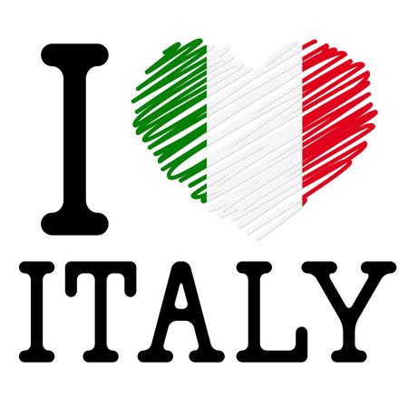 I LOVE ITALY symbol