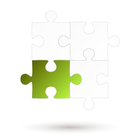 Puzzle - four parts - Green Option Standard-Bild - 121237228