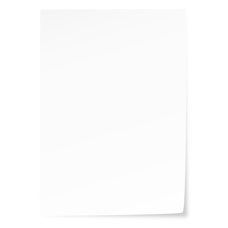 empty recycling paper with corner sticking out Standard-Bild - 121237241