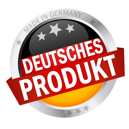 Button with banner german goods