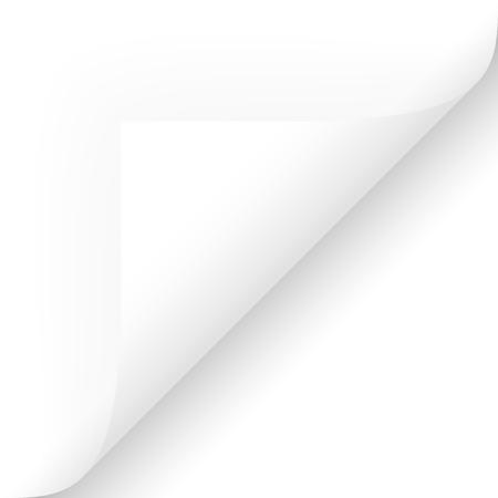 Esquina inferior derecha del papel Ilustración de vector